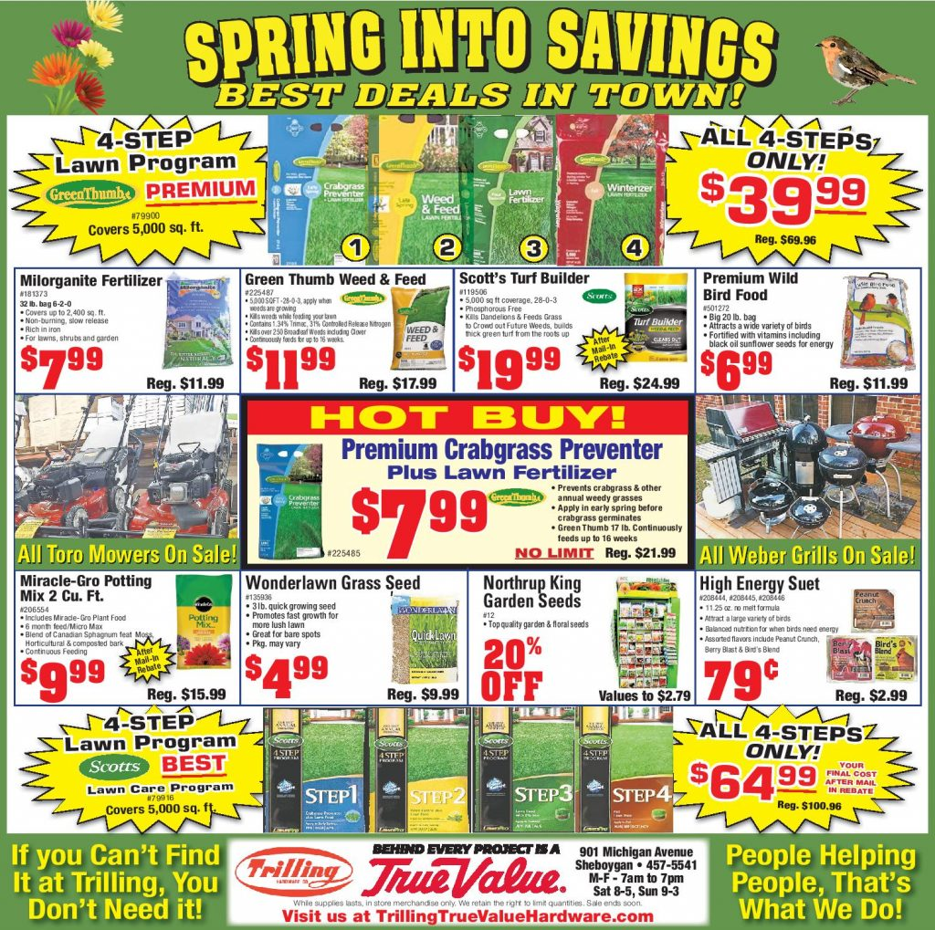 trilling spring coupons