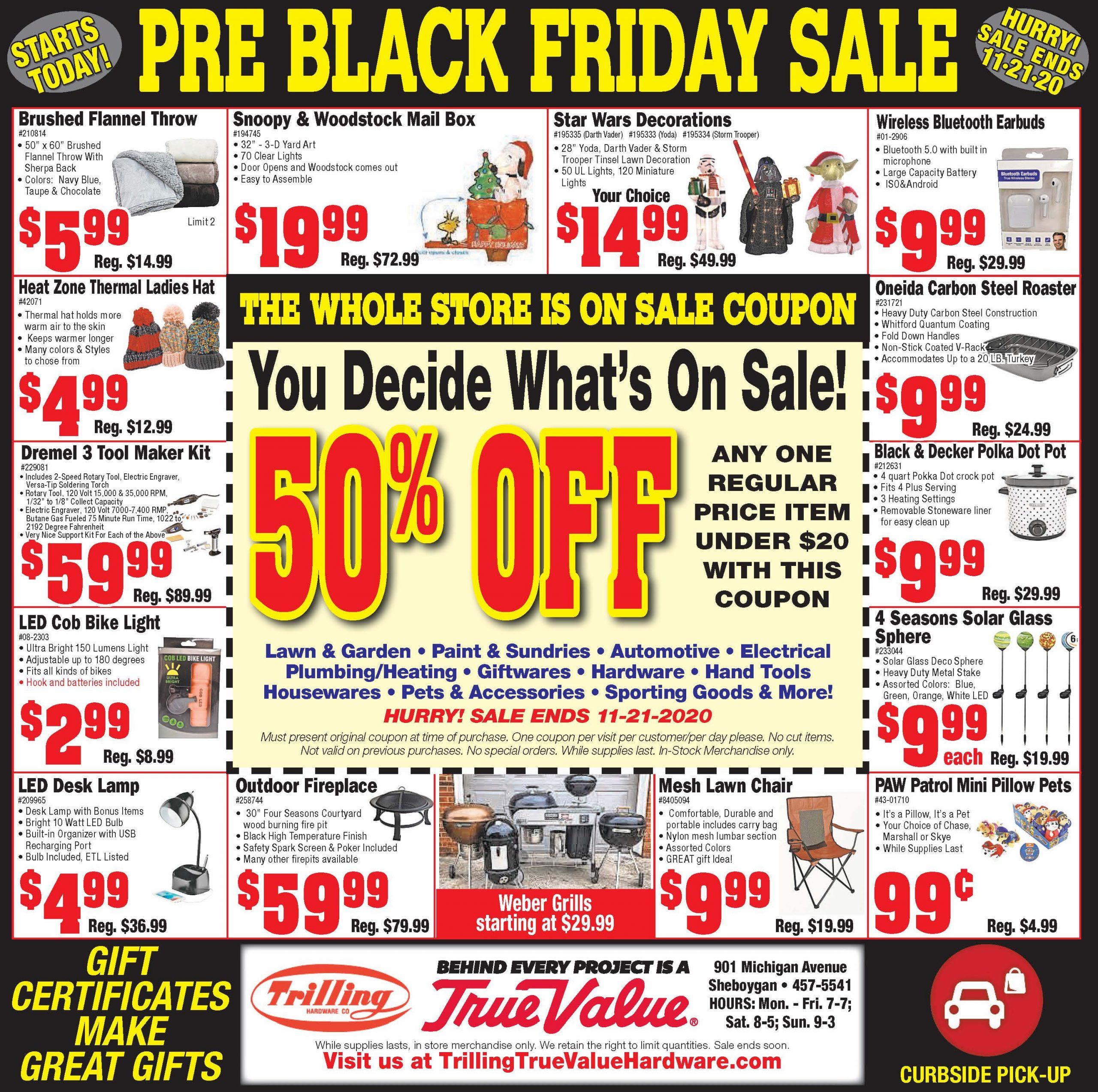 trilling black friday sale 2020
