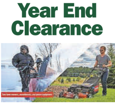 YEAR END CLEARANCE TRILLING