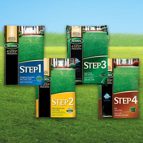 Scotts 4-Step Lawn Care Program with Rebate